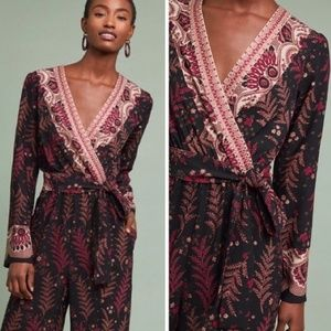 Anthropologie Breezeway Embroidered Jumpsuit